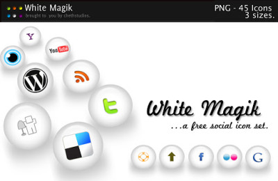 white magik free social icon set