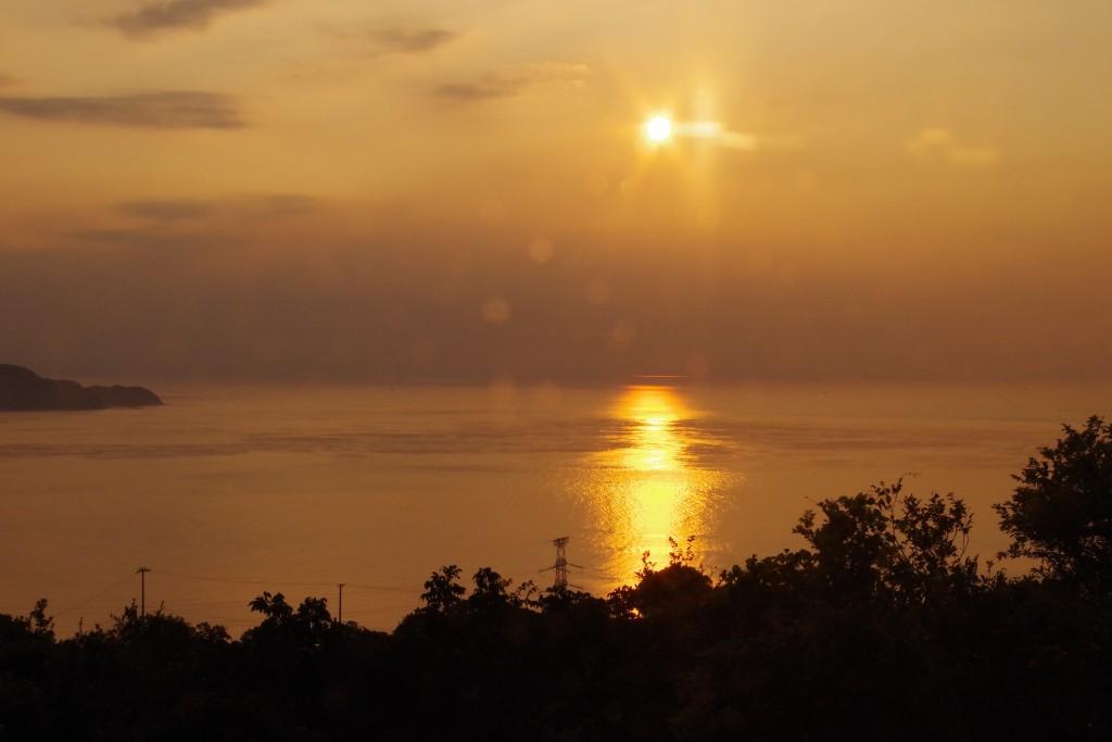 うずの丘夕日
