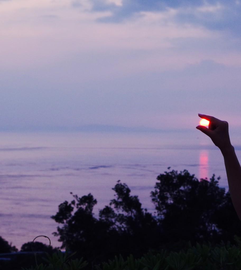 うずの丘夕日2